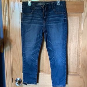American Eagle high rise jegging crop size 10